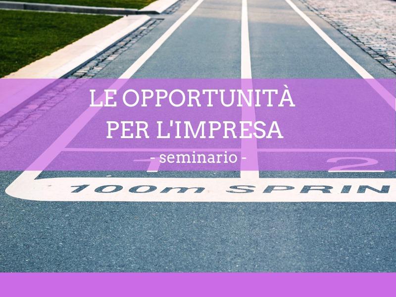 Le opportunità per l'impresa